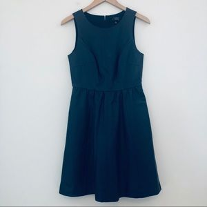 The Limited Sleeveless Dress Blue Faux Leather